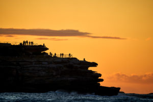 Sunrise, always a crowd pleaser at Bondi