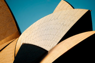 Utzon's famous sails of Sydney Opera House