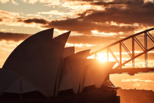 Jørn's sunset, Sydney Opera House