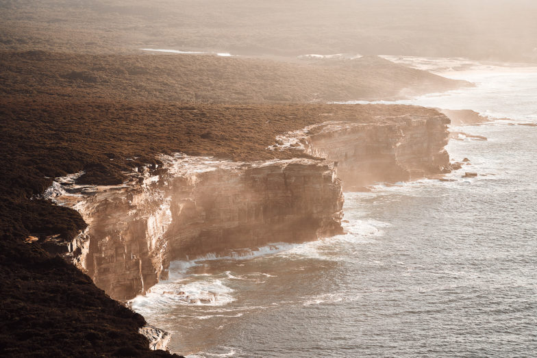 The cliffs of Royal National Park