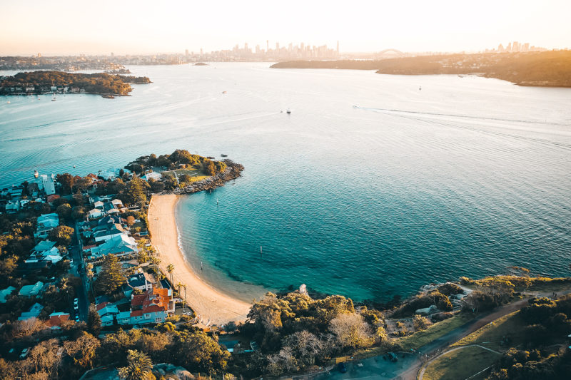 Camp Cove, Sydney Harbour at sunset