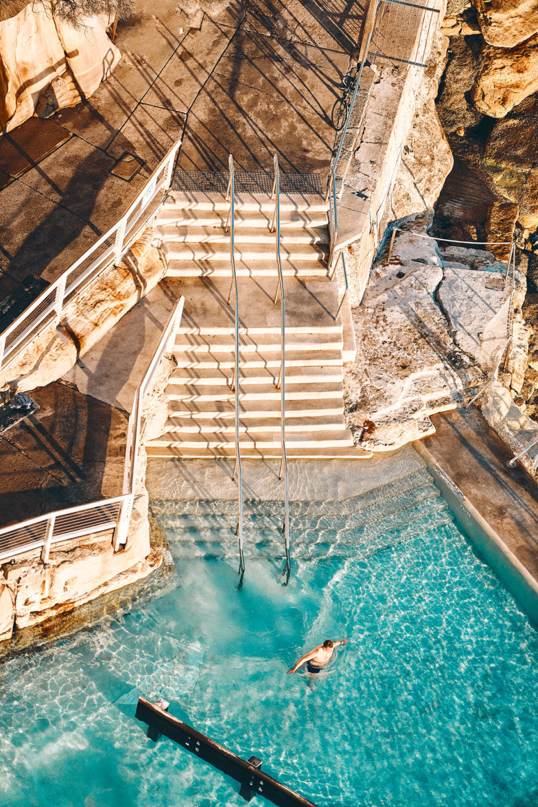 First In, Bronte Pool, New South Wales, Sydney, Australia
