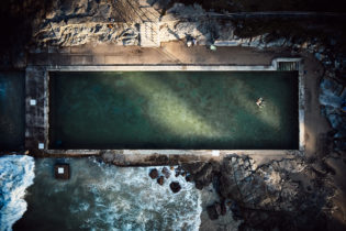 Last light on Yamba ocean pool