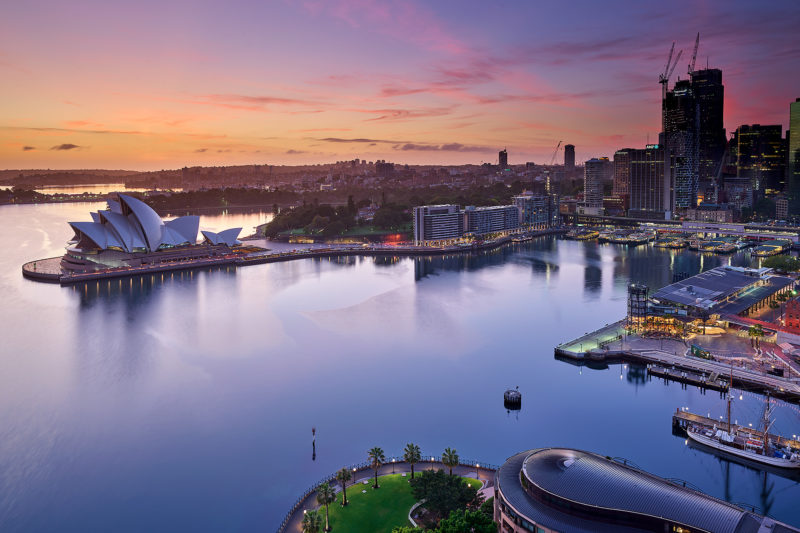 The view from Sydney Harbour Bridge
