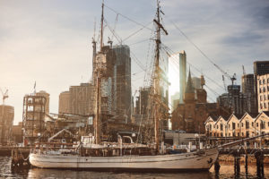 The tall ship Coral Trekker is a 23-metre