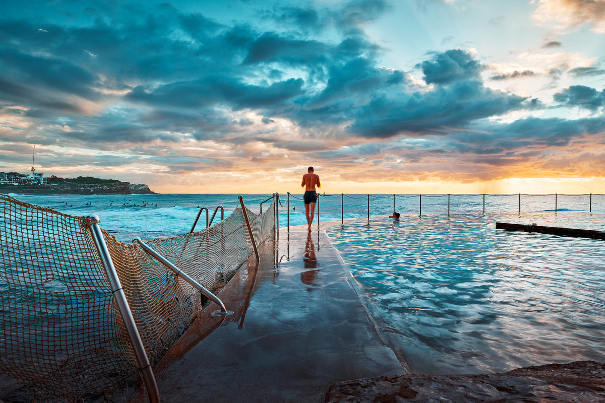 Bronte Pool, into the sunrise