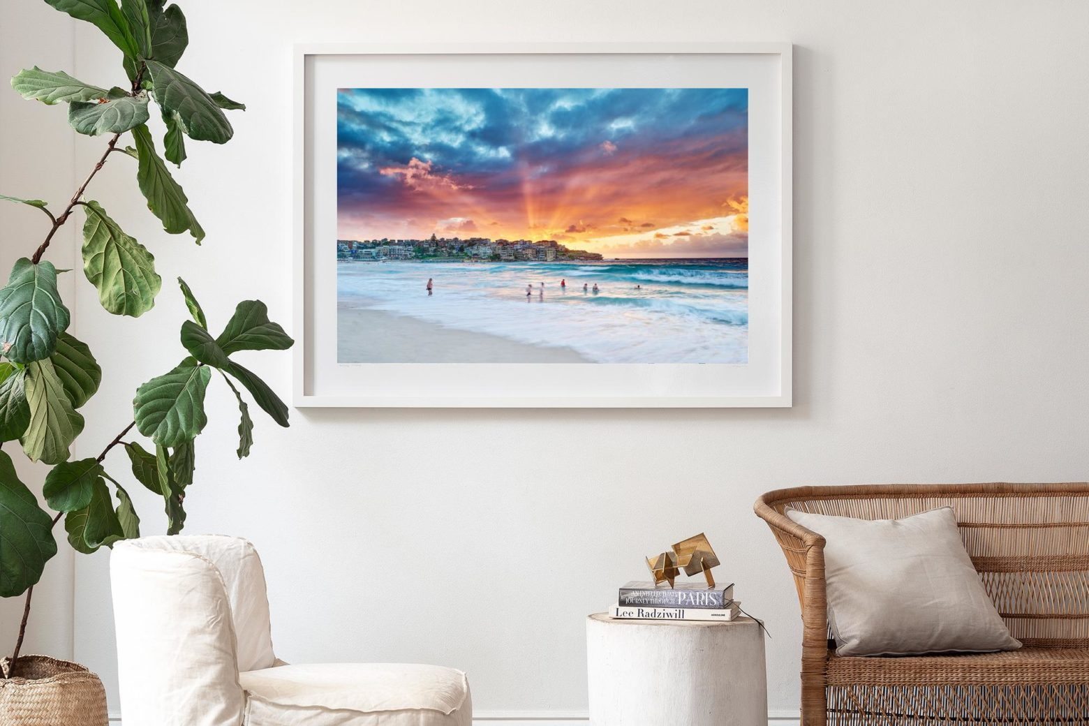 'Striking North' in our White Shadow Box Frame 125 x 90cm