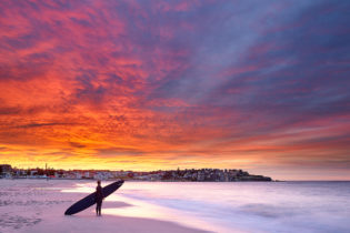 About as intense as the colours can get at Bondi. June 8, 2021 6:45am