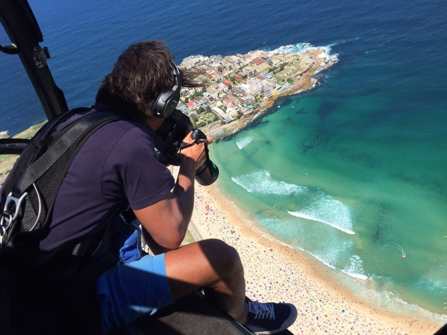 Eugene Tan shooting our Aerial Collection from Helicopters (not drones)