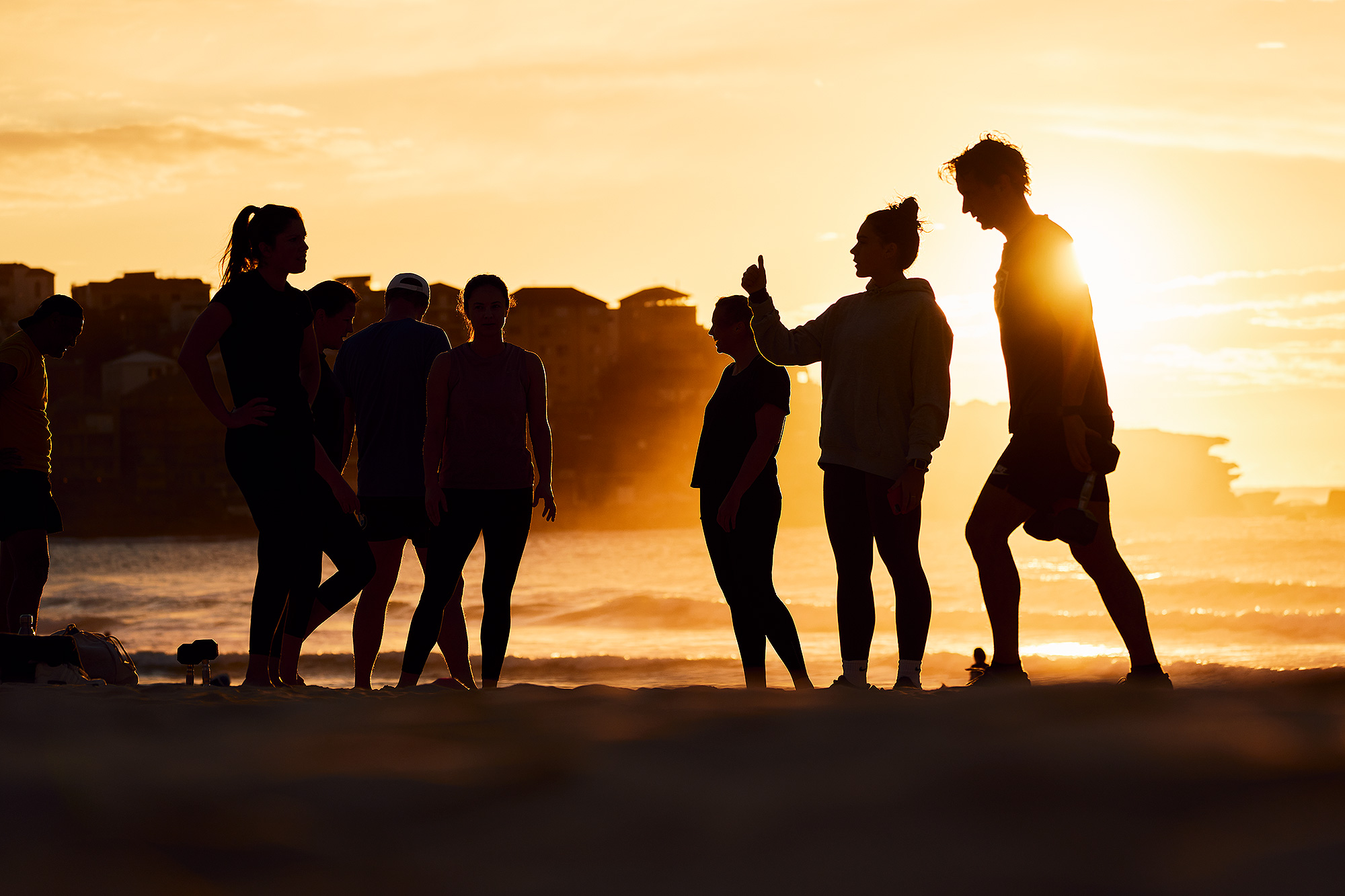 Training group, first light