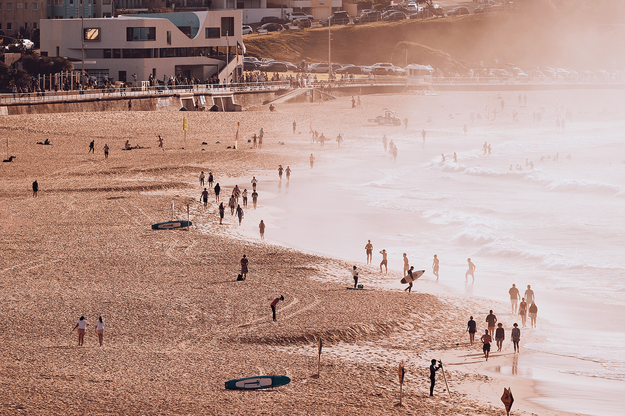 Bondi Beach - 900 metres long and one of the most popular beaches in Australia