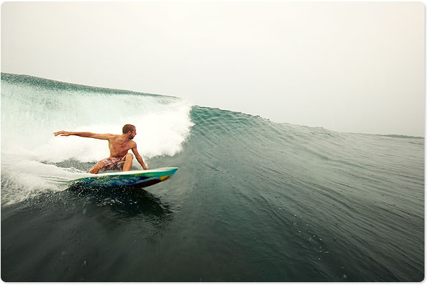 The clean walls of the Mentawai Islands