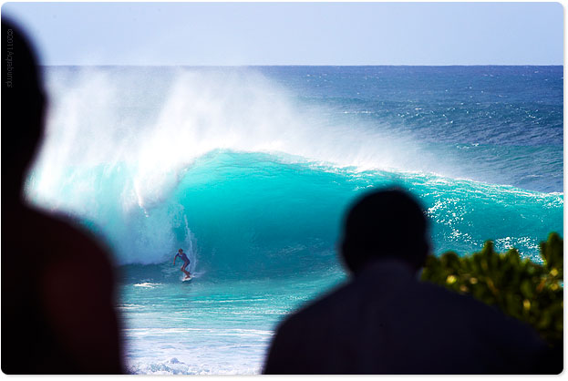 Banzai Pipeline, nice and big and thick...