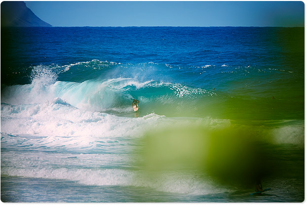 Banzai Pipeline, Hawaii...little wonky but fun