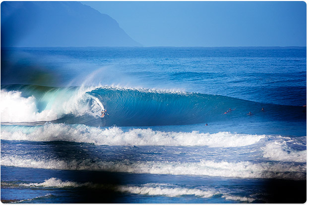 1st wave I saw this morning, immaculate Pipeline