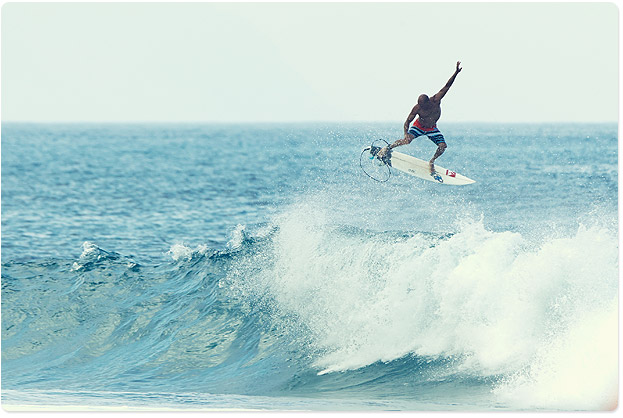Kelly Slater lofting over Backdoor