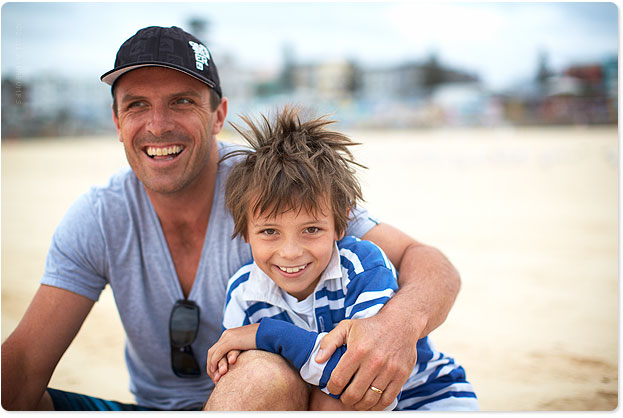 Australia's most enthusiastic father and son, Tim and Jarvis Banfield