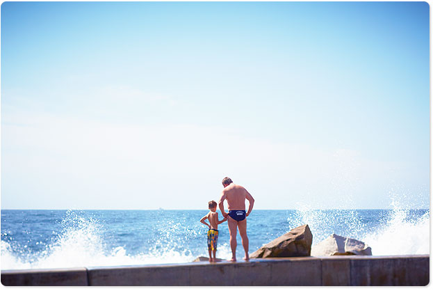Clovelly, father and son
