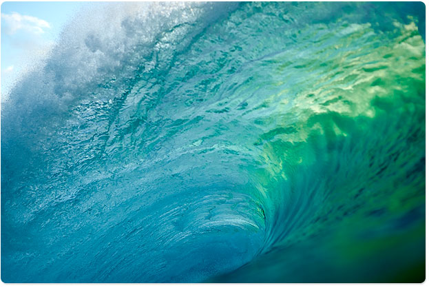 The curl at Banzai Pipeline