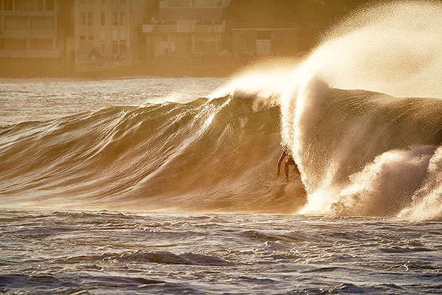 Our gallery manager, Tyson Millar. Wave of the morning.